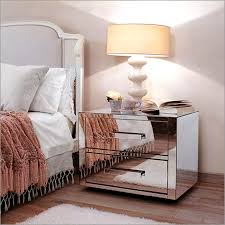 Mirrored Side Tables Bedroom Mirror Night Table Modern Bedside Tables Dazzling Mirrored