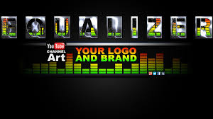 youtube channel art music. Contemporary Art Equalizer Music YouTube Channel Art Template  By CustomPagecom In Youtube