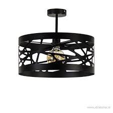 Zwart Metalen Plafondlamp Scandinavisch Straluma