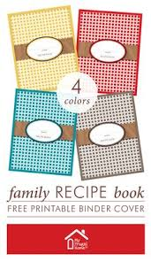 customizable family recipe book 4 colors to choose from