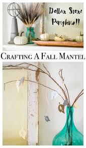 fall craft ideas for a mantel home decor with a cricut major