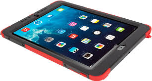 safeport rugged max pro case for ipad air thd10003us red tablet cases targus