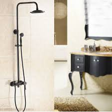 glen oil rubbed bronze wall mounted rainfall shower head with handheld shower tub spout 1