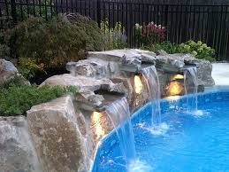 inground pools with waterfalls and hot tubs. Exciting Inground Pool Waterfalls Pinkax Com Pools With And Hot Tubs E