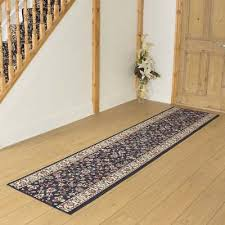 persian d blue hallway carpet runner rug traditional hall extra long