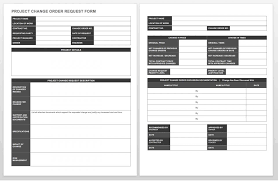 Construction Bid Form Complete Collection Of Free Change Order Forms Smartsheet