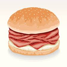 roast beef clipart. Perfect Beef Roast Beef Sandwich With Horseradish Vector Art Illustration Inside Clipart E