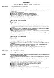 Certified Welding Inspector Resume Perfect Resume