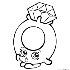 Small Picture Print Roxy Ring With Diamond Shopkins Season 3 Coloring Pages In