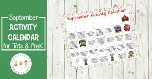 Free Printable Preschool Activity Calendar For September
