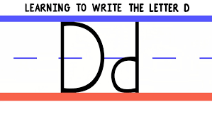 Write The Letter D Abc Writing For Kids Alphabet Handwriting By