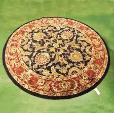 lot 142 handmade round wool rug made in india 9 diam