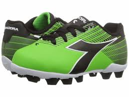 diadora ladro md jr soccer cleats lime green black toddler kids youth sizes 29 99