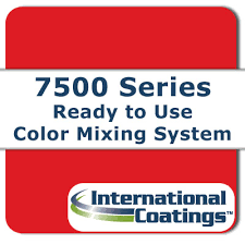 International Coatings Ink Color Chart Color Mixing System 7500 Series Rfu