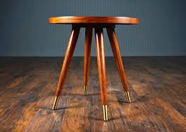 image of mid century round tapered table legs