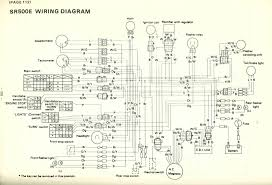 yamaha sr500e wiring diagram wiring diagram for the yamaha sr500e i e 1978 model color code it s a little confusing being in b w letters for the colors but look at all