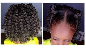Twist Hairstyles For Boys Two Strand Twist Out W Bantu Knots Kids Natural Hairstyle