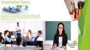 dissertation tutor service
