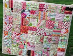 One Color Scrappy Baby Quilt | FaveQuilts.com & One Color Scrappy Baby Quilt Adamdwight.com