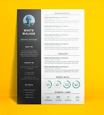 Resume Template 2017 Impressive 60 Free CV Resume Templates 6017 Freebies Graphic Design Junction