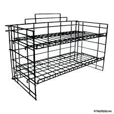 countertop display rack 2 tier