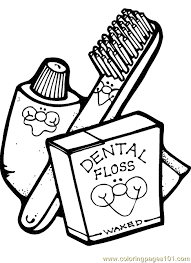 Small Picture free printable coloring page Dental Health Coloring Page 01