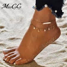 MissCyCy <b>Boho Style</b> Star Anklet <b>Fashion Multilayer</b> Foot Chain ...