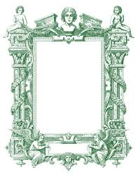 spectacular antique french graphic frame with angels