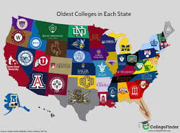 choosing your college fit in the map above the oldest and most prestigious colleges of each state are shown