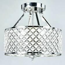 round flush mount chandelier flush mount chandelier new legend lighting chrome round shade crystal semi flush