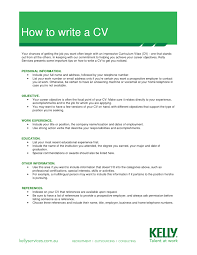 Write A Resume Beauteous How To Write A Curriculum Vitae Step Resume Objective For By 48