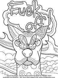 Awesome Swearing Coloring Pages Printable Top To Print Off Swear