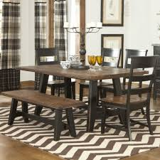 Dining Room Table Top Butcher Dining Room Furniture Black Polished Wooden Base Legs