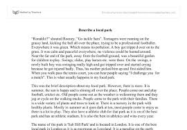 descriptive essay about park a walk in the park descriptive essay samples and examples