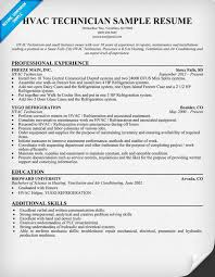 Mechanic Resume Template Amazing Hvac Resume Template Hvacr Templates Free Igrefriv