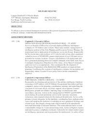 Sample Military Resumes Military To Civilian Resume Examples