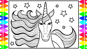 Learn how to draw unicorn for kids pictures using these outlines or print just for coloring. How To Draw A Unicorn For Kids Unicorn Drawing Unicorn Coloring Pages For Kids Youtube