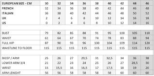 46 Regular Size Chart Size Chart Sadoni Shop