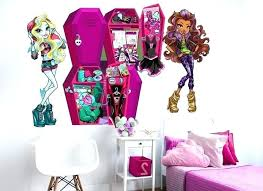 large monster high wall decals with monster high wall decals monster high large wall stickers family wall decals arz
