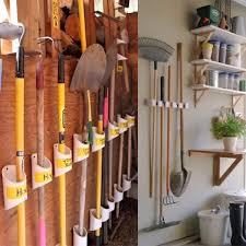 gardening tools and hanged in garage garage storage ideas diy