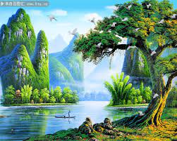 唯美桂林山水风景图片素材-大自然-百图汇素材网