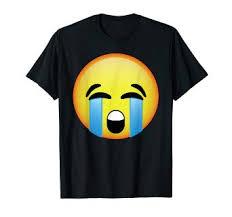 Amazon Com Hd Emoji Loudly Crying Face Shirt Bawling Sad