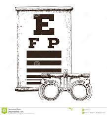 Visual Acuity Snellen Chart How To Use Optics And Visual Acuity Stock Vector Illustration Of