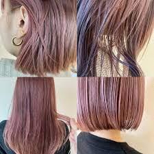 ヘア カラー ピンク