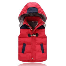 new winter kids waistcoats baby vest fashion buckle warm hooded baby coat classic vest jacket cotton clothes boy girl outwear