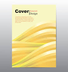 book cover with abstract line waves background stock vector ilration of brochure background