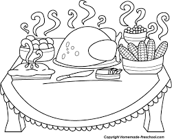 table clipart black and white. thanksgiving black and white food clipart table