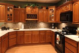 Kitchen Colors Black Appliances Oak Kitchen Cabinets With Granite Countertops And Black Appliances