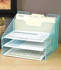 desk file organizer. Interesting Desk Blue 5Compartment Desktop File Organizer In Desk Amazoncom
