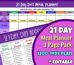 21 Day Fix Meal Plan Sample Menus For 1200 1499 1500 1799